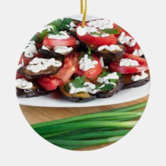 Mittagessen für einen Vegetarier Rundes Keramik Ornament