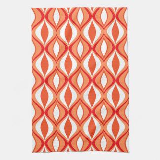 Mitte- des Jahrhundertsmoderne Diamanten, Orange Handtuch