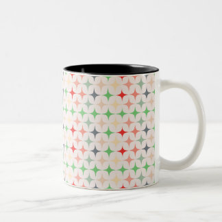Mitte- des Jahrhundertsmoderne Sterne Zweifarbige Tasse