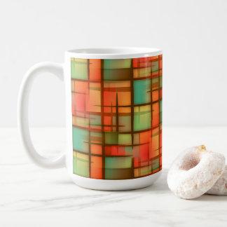 Mitte- des Jahrhundertsmodernes abstraktes Kaffeetasse