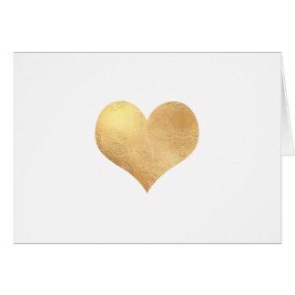 Mitteilung des PixDezines Imitat-Gold Heart/DIY Grußkarte