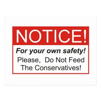 Mitteilung/Konservative Postkarte