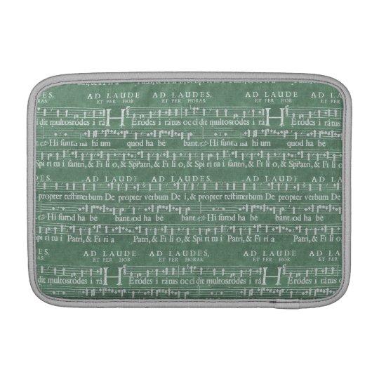 """Mittelalterliche Musik-Manuskript Macbook Luft 11"""" MacBook Sleeve"""