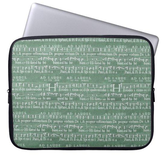 Mittelalterliche Musik-Manuskript-Neopren-Hülse Computer Sleeve Schutzhülle