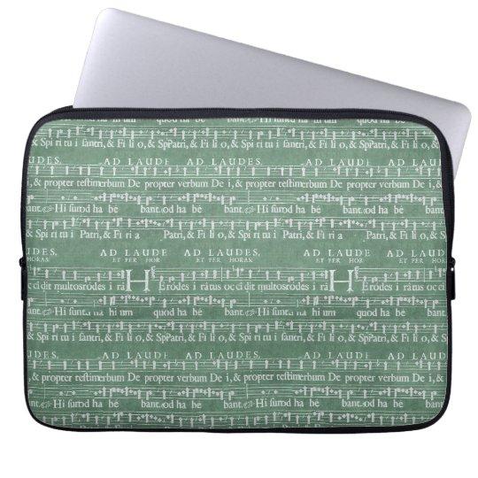 Mittelalterliche Musik-Manuskript-Neopren-Hülse Laptop Schutzhüllen