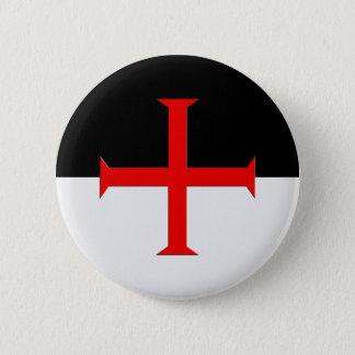Mittelalterliche Ritter Templar Querflagge Runder Button 5,1 Cm
