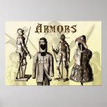 Mittelalterliche Rüstungen Plakate