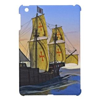 Mittelalterlicher Carrack, der das raue Wasser am iPad Mini Hülle