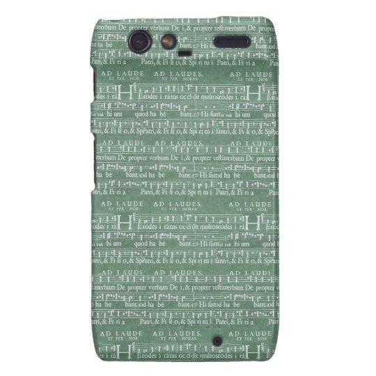 Mittelalterlicher Fall Musik-Manuskript-Motorolas Motorola Droid RAZR Cover