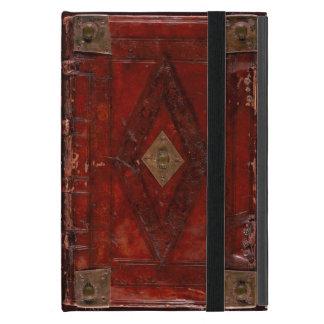Mittelalterlicher gravierter roter lederner iPad mini hülle