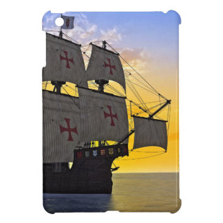 mittelalterliches carrack am Sonnenuntergang iPad Mini Hülle