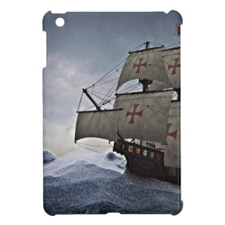 Mittelalterliches Carrack im Sturm iPad Mini Hülle