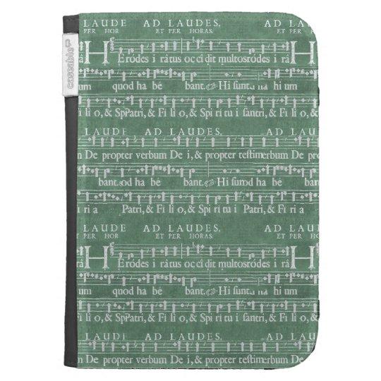 Mittelalterliches Musik-Manuskript zünden Kasten