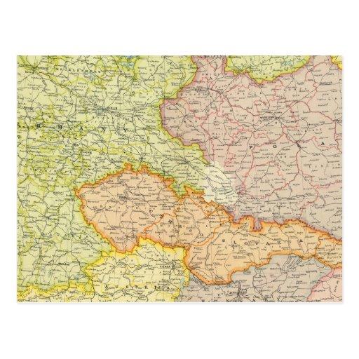 Mitteleuropäische Staaten politisch Postkarten