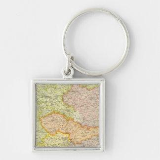 Mitteleuropäische Staaten politisch Silberfarbener Quadratischer Schlüsselanhänger