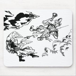 Mitten- in der Luftkampf Mousepad! Mauspads