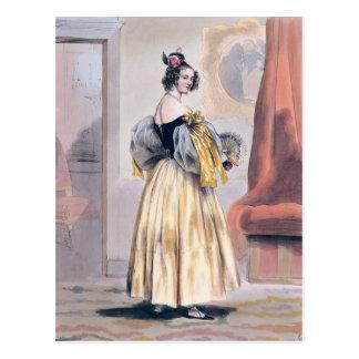 Mitternacht, 1830-48 postkarte