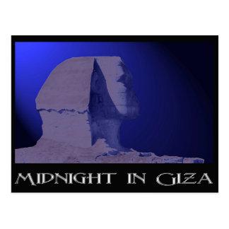 Mitternacht in Giseh-Postkarte Postkarte
