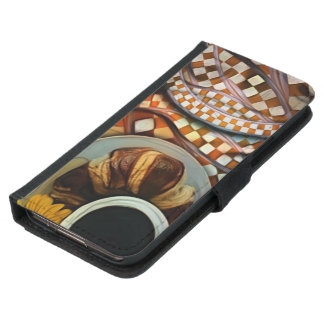 Mitternacht-nie Enden, ein rotes Checkered Samsung Galaxy S5 Geldbeutel Hülle