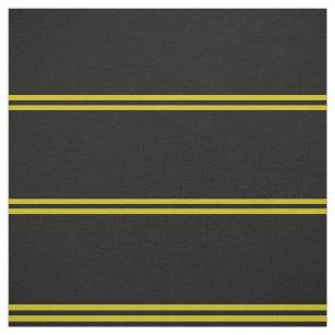 Mitternachtsschwarzes, Gold striped Entwurf Stoff
