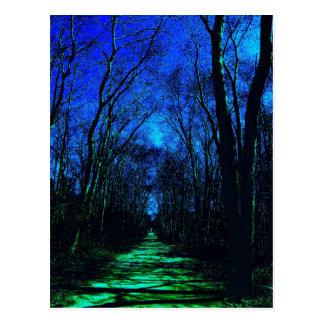 Mitternachtsweg-Postkarte Postkarte