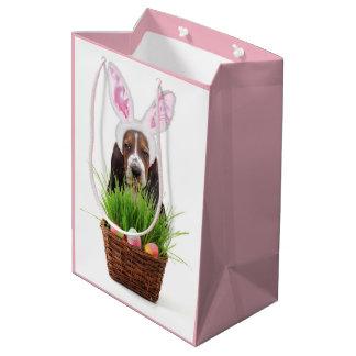 Mittlere Geschenk-Tasche Ostern Basset Hound Mittlere Geschenktüte