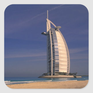 Mittlere Osten, Arabische Emirate, Dubai, Burj Quadratischer Aufkleber