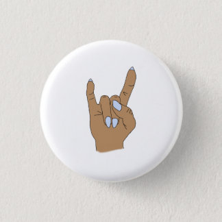 Mittlerer Haut-Felsen auf rundem Mode-Knopf Runder Button 2,5 Cm