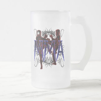MIXED MARTIAL ARTS Kämpfer-mattiertes Bier-Glas Matte Glastasse