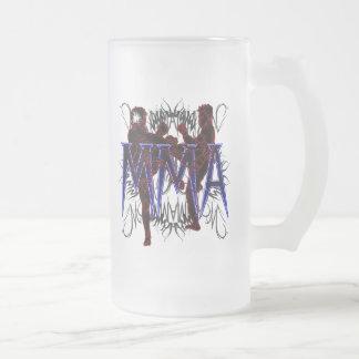 MIXED MARTIAL ARTS Kämpfer-mattiertes Bier-Glas Mattglas Bierglas