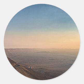 Mizpe Ramon Krater, Israel Runder Aufkleber