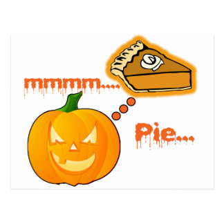 Mmmm ..... Kürbiskuchen - Halloween Postkarte