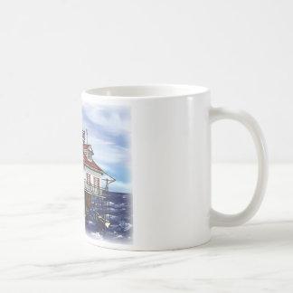 Mobiler mittlerer Buchtleuchtturm Kaffeetasse