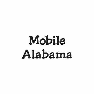 Mobiles Alabama gesticktes Polo-Shirt!!!