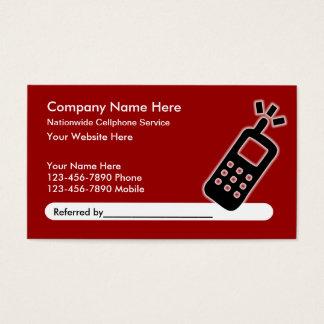 Mobiltelefondienst-Empfehlungs-Visitenkarten Visitenkarten