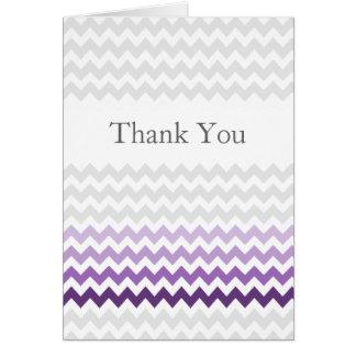 Mod danken Zickzack lila Ombre Hochzeit Ihnen Karte