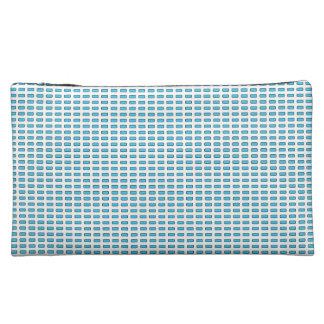 Mod-Geo-Veloursleder-Blau-MED-Kosmetik-Tasche Kosmetiktasche