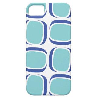 Mod-Muster 60er des blauen Kastens Etui Fürs iPhone 5