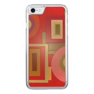 Mod-rote Quadrat-Kreise Carved iPhone 8/7 Hülle