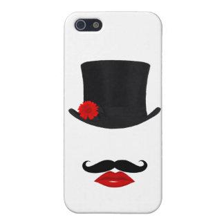 Mod-Spitzenhut-Dame With Mustache iPhone 5 Etui