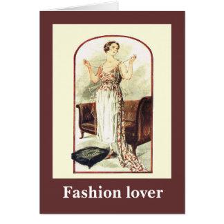 Mode 1928, gekleidet für die Unterhaltung Karte
