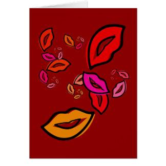 Mode-Lippen Karte