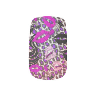 Mode-Mädchen-LippenGepardminx-Nägel Minx Nagelkunst