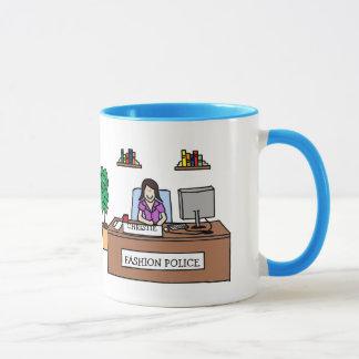 Mode-Polizei - personalisierte Cartoon-Tasse Tasse