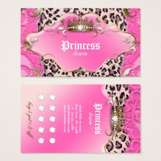 Mode-Schmuck-Loyalitäts-Karten-Leopard-Spitze-Rosa Visitenkarte