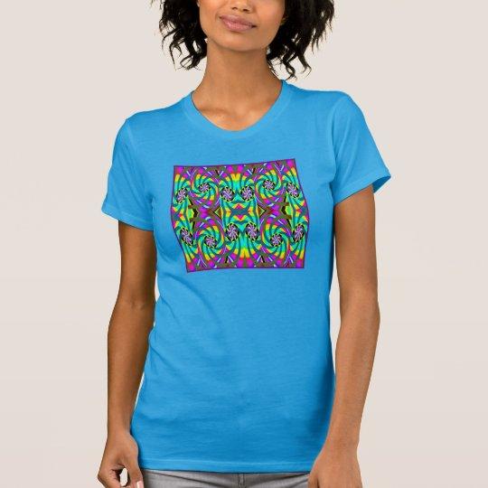 Mode-Shirt 4 sie - Türkis, aquamarin, gelb, lila T-Shirt