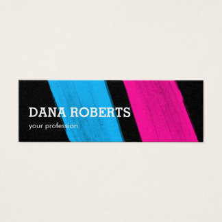 Mode-Stylist-Designerfarbe streicht blaues Rosa Mini Visitenkarte