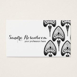 Mode-Stylist-Designerkunst nouveau Muster Visitenkarte