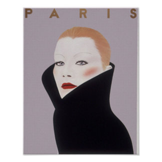 Mode-Vintager Druck Paris Frankreich Poster