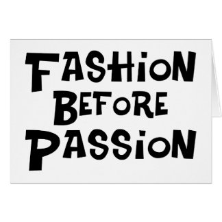 Mode vor Leidenschaft Karte